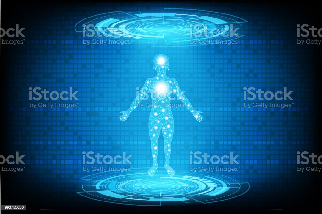 Body information futuristic design concept.Graph for analysis body and information.vector and illustration vector art illustration