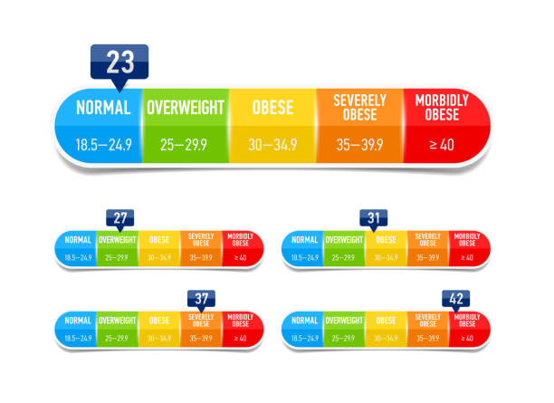 Body-mass-Index, Bmi-Klassifizierung-Diagramm – Vektorgrafik