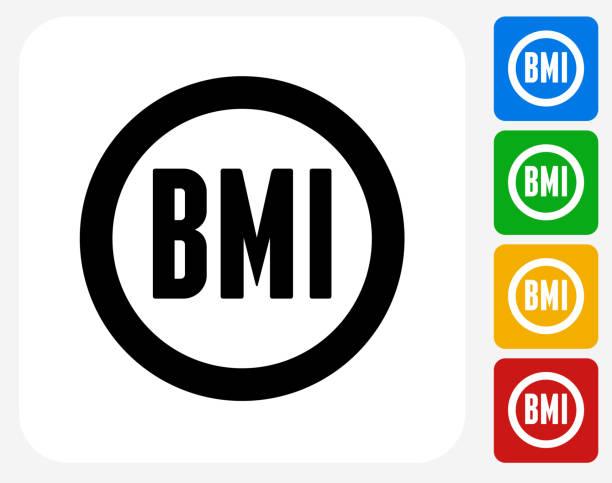 Body Mass Index Symbol flache Grafik Design – Vektorgrafik