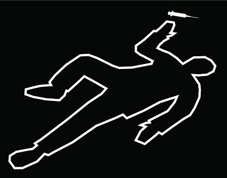 Body Outline Drug Overdose
