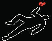 Body Outline With Broken Heart