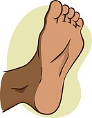 body part, plant or sole of the foot, African descent