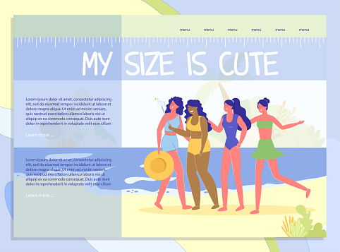 Body Positive Landing Page with Beautiful Woman