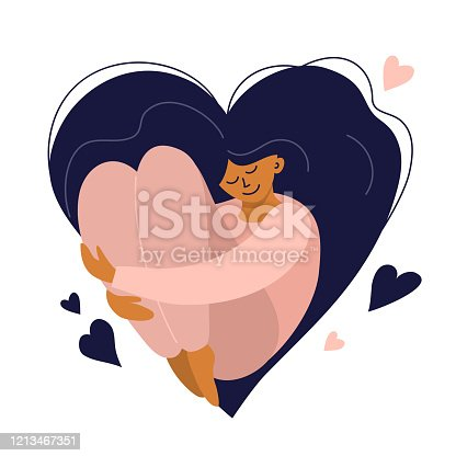 istock Body positive, self care or happy women's day illustration 1213467351