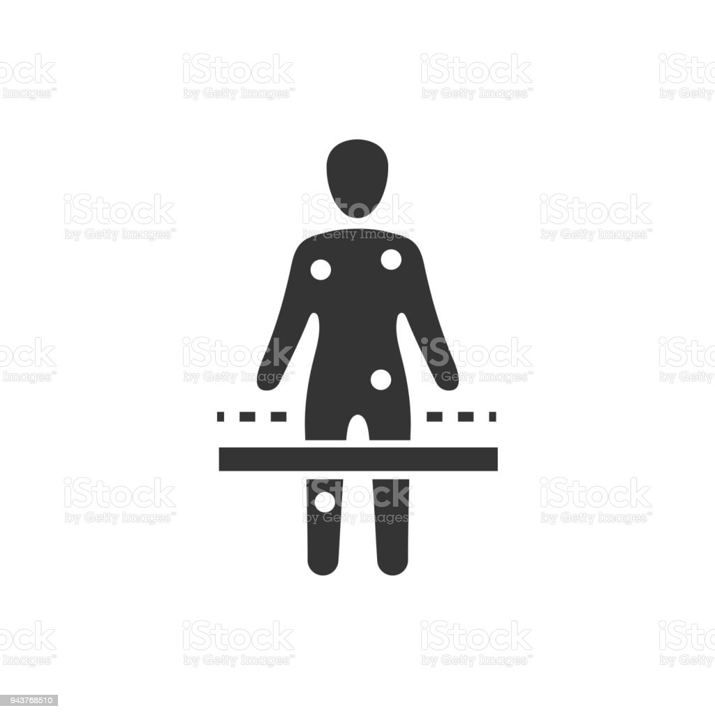 Body Scan Icon vector art illustration