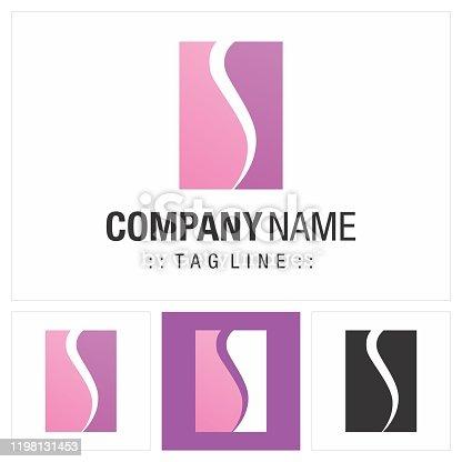 Geometric, Beauty, Fashion Style Icon Illustration. Elegant and Modern Identity Concept Design Idea Template. Body Shape Vector Company Symbol.