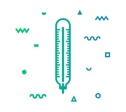 Body Temperature Line Style Icon Design