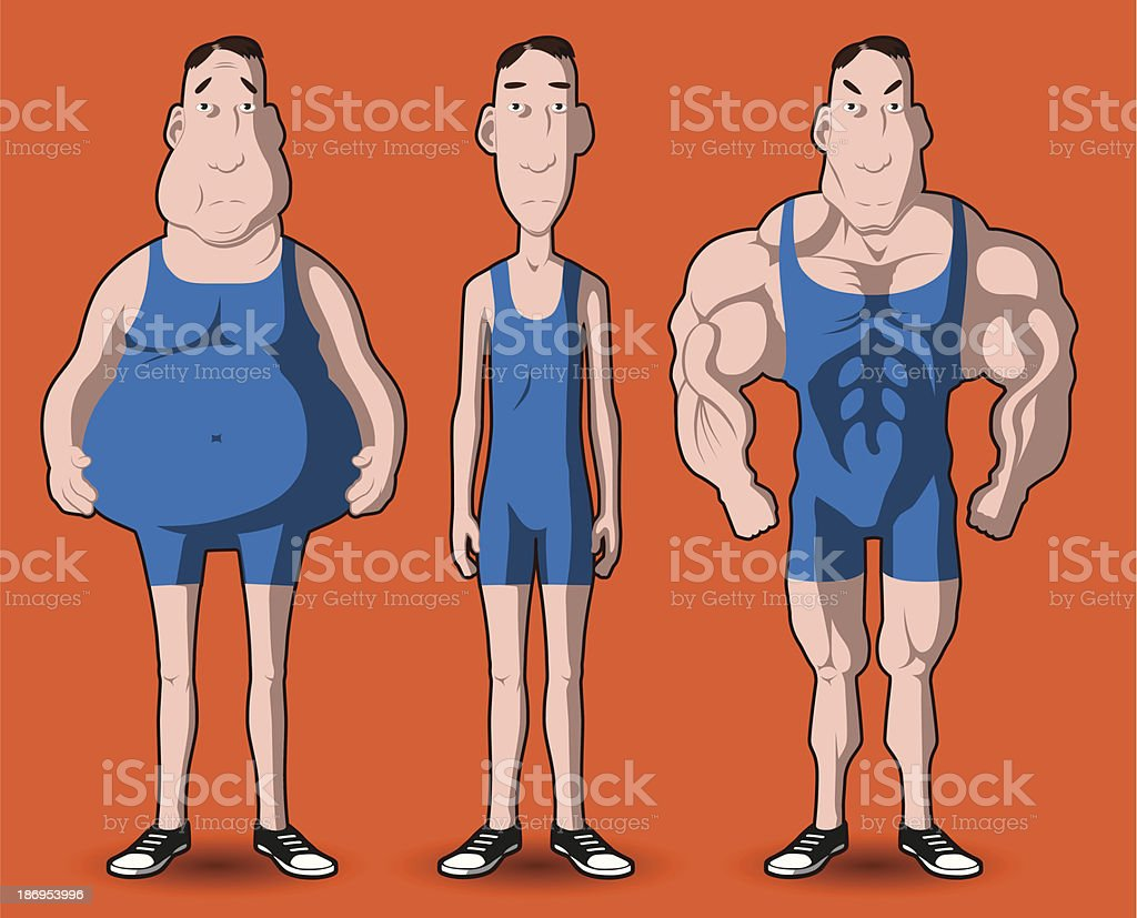 body transformation royalty-free stock vector art