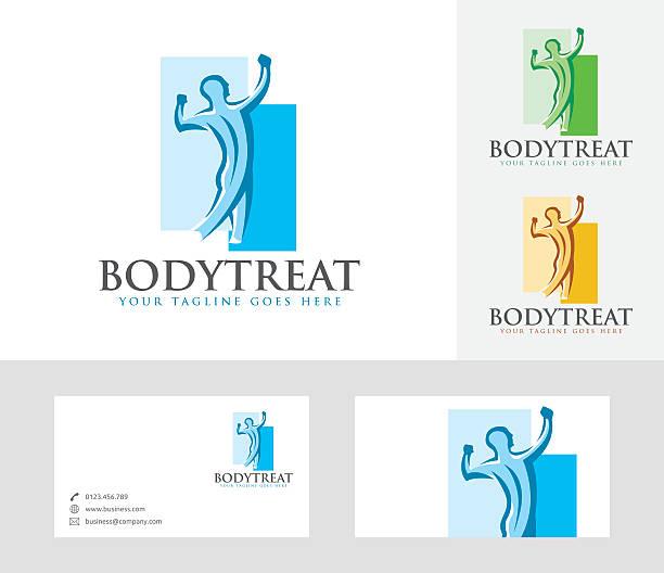 illustrations, cliparts, dessins animés et icônes de body treat vector logo - chiropracteur