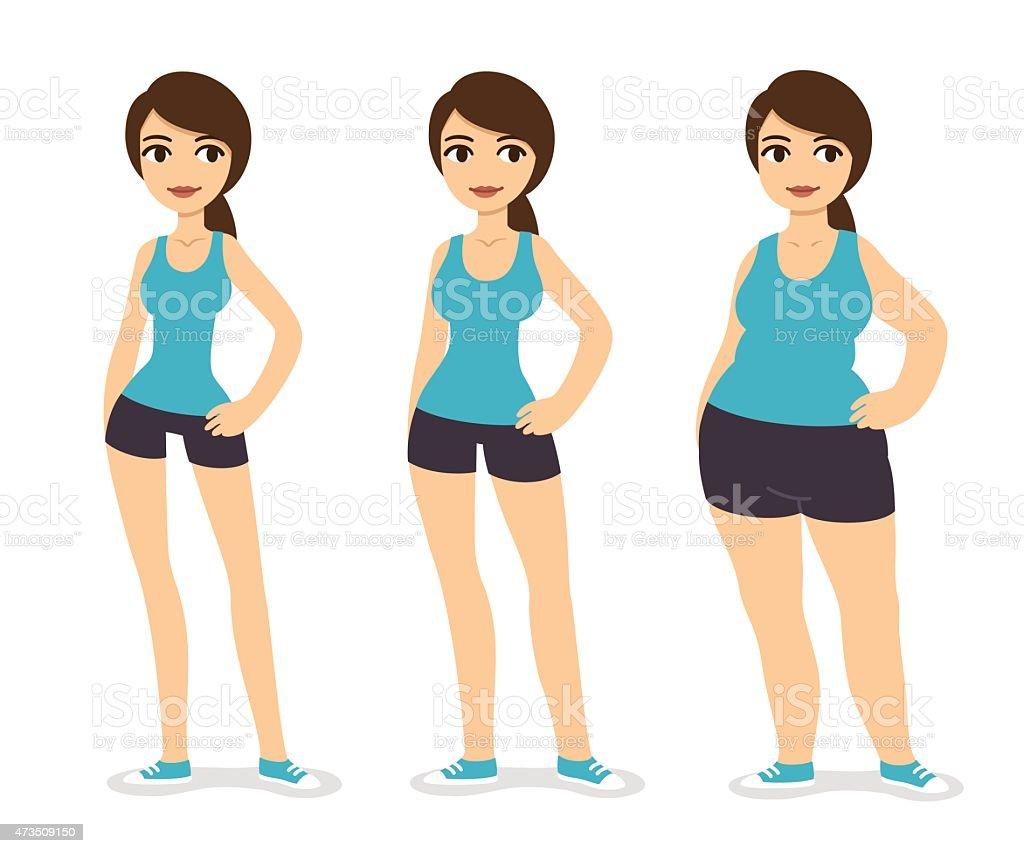 Body types vector art illustration