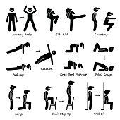 Body Workout Exercise Fitness Training (Set 1) Pictogram