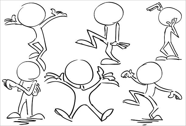 body_language_dance_happy.jpg - karikatur stock-grafiken, -clipart, -cartoons und -symbole