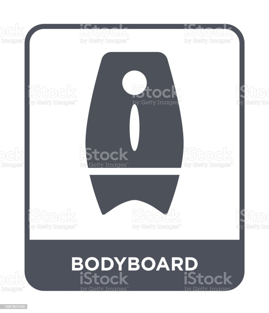 bodyboard icon vector on white background, bodyboard trendy filled icons from Summer collection vector art illustration