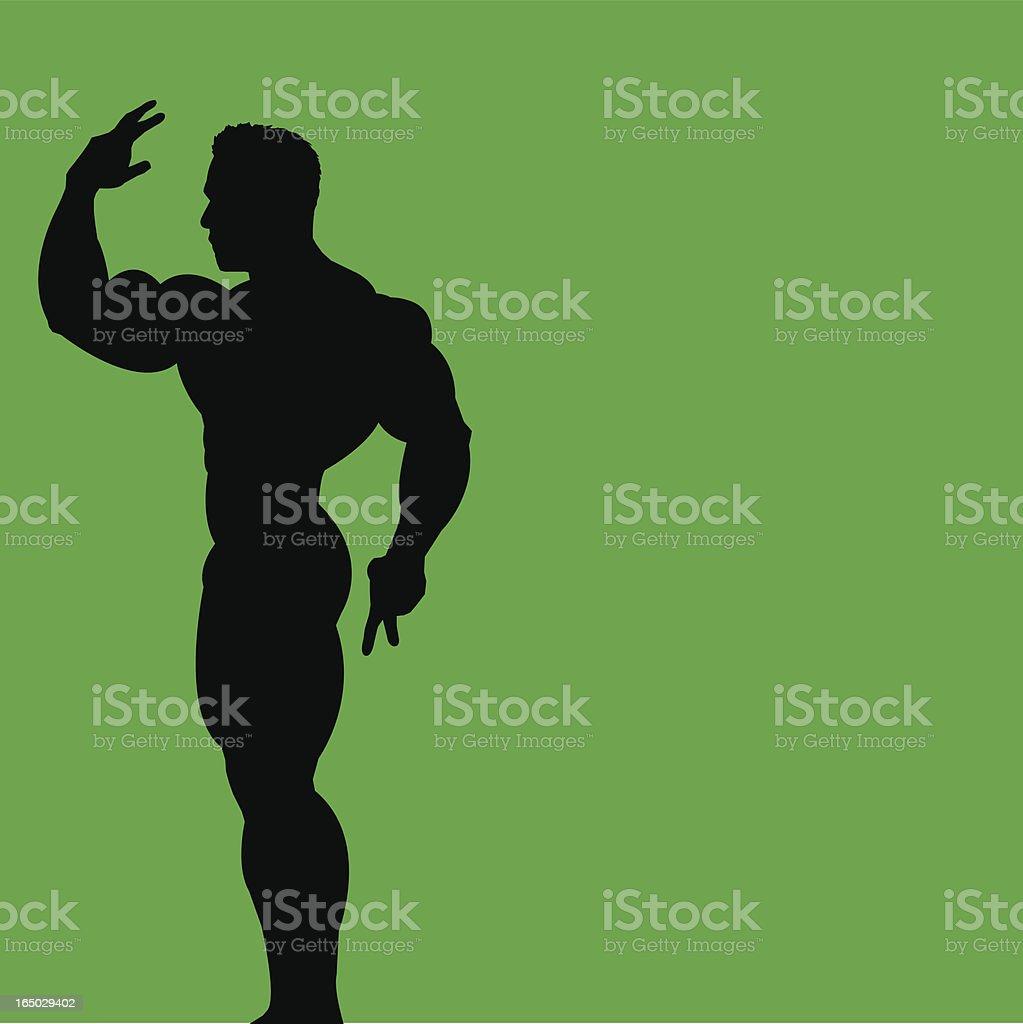 Bodybuilder 3 royalty-free stock vector art