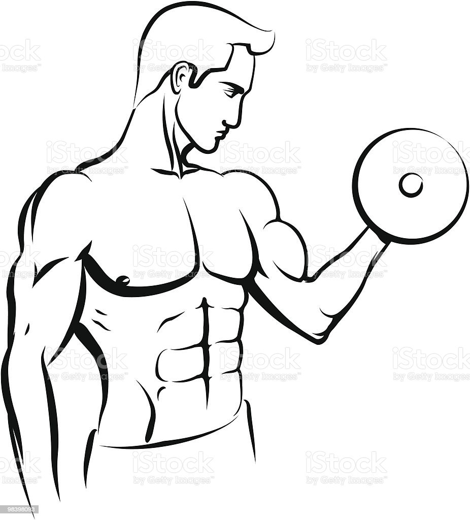 Bodybuilder black and white sketch royalty-free bodybuilder black and white sketch stock vector art & more images of abdominal muscle