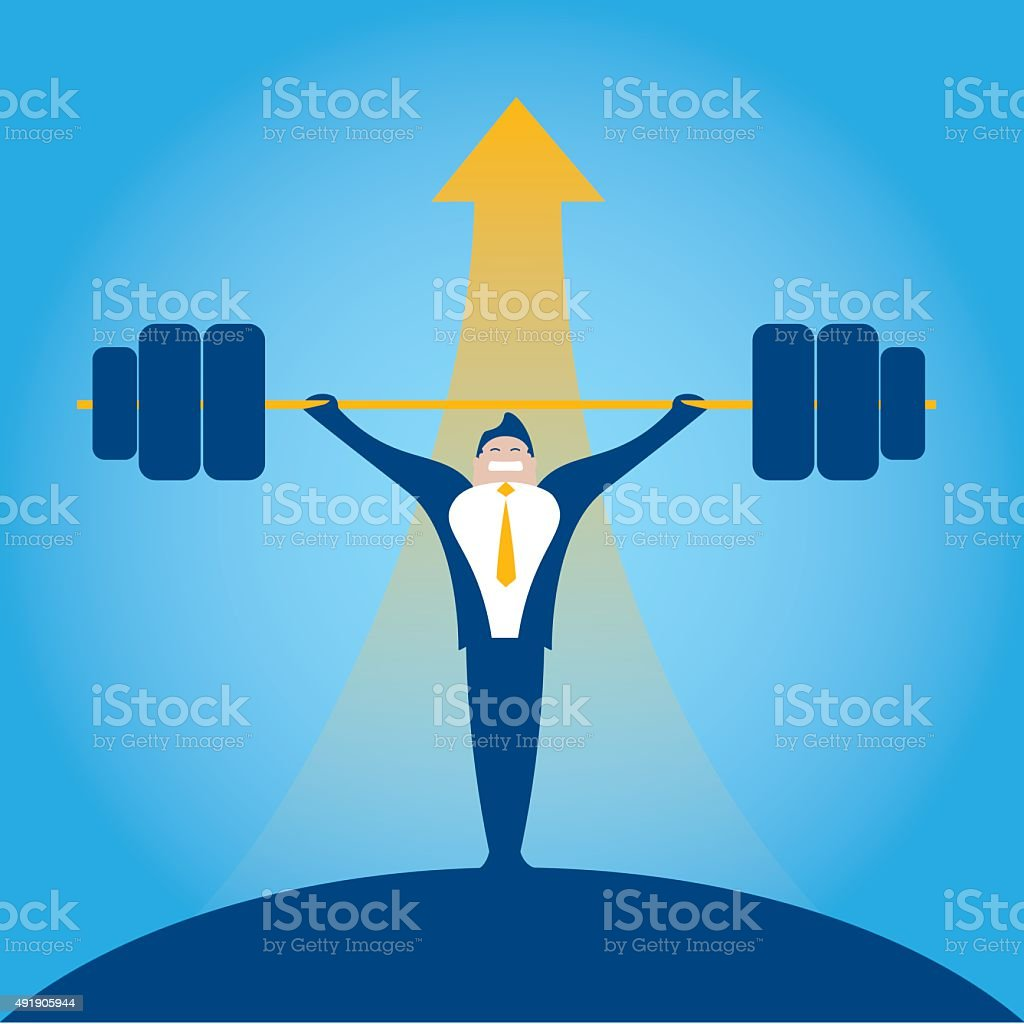 bodybuilder Businessman vector art illustration