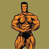 Life Like Vector Bodybuilder created in Adobe Illustrator. Great for any comic style designs!