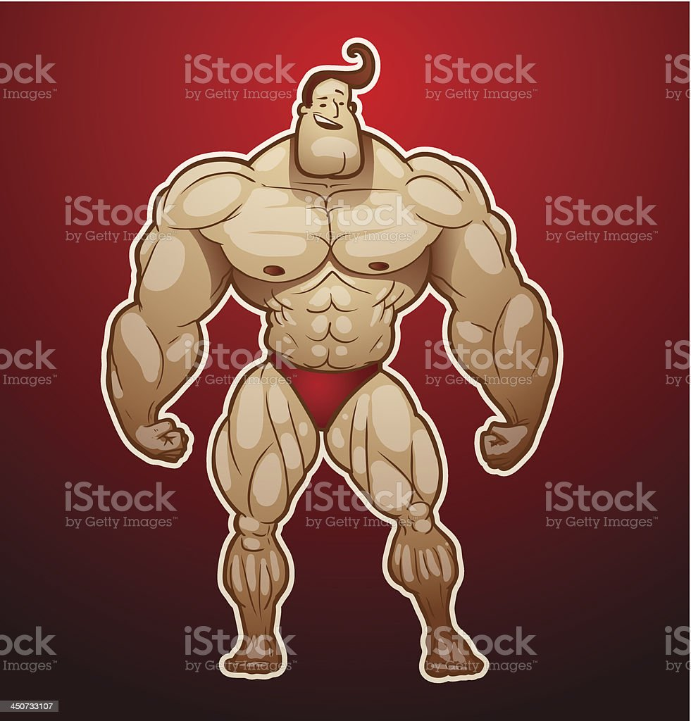 Bodybuilder standing royalty-free bodybuilder standing stock vector art & more images of adult