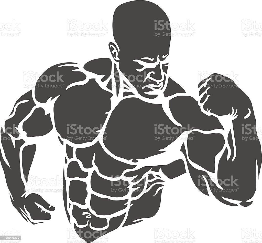 Bodybuilder vector art illustration