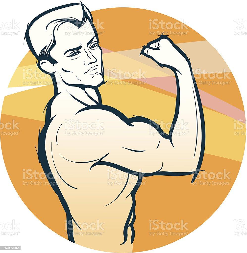 Body-builder vector art illustration