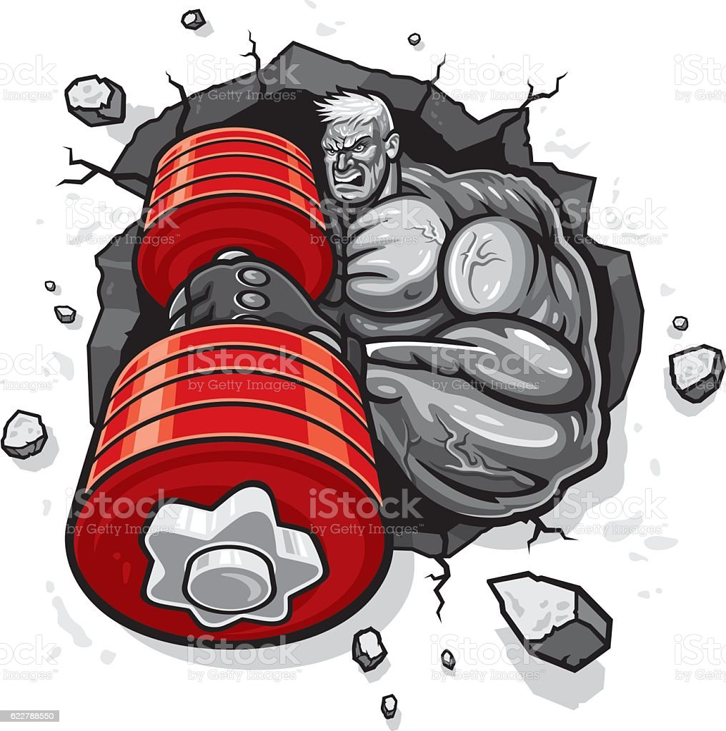 Bodybuilder vector art illustration