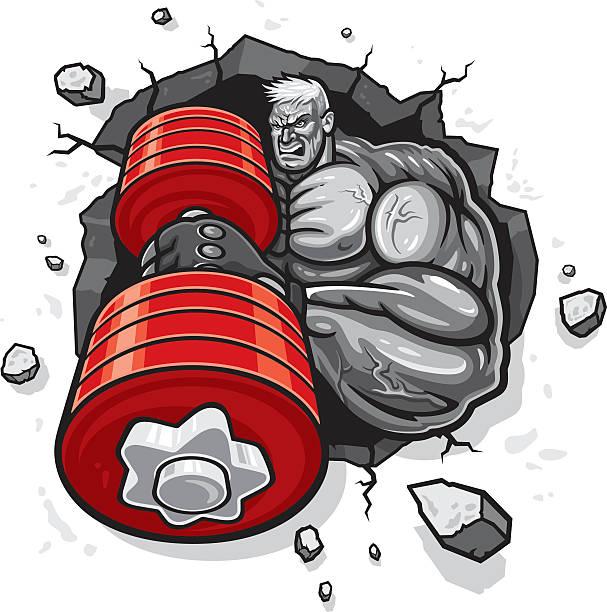 Bodybuilder  - ilustración de arte vectorial
