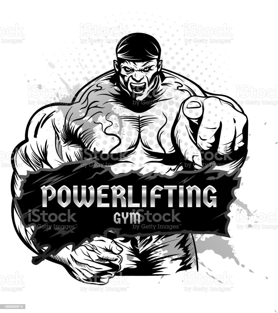 weightlifting stock images royalty free images vectors bodybuilding and powerlifting symbol stock vector art