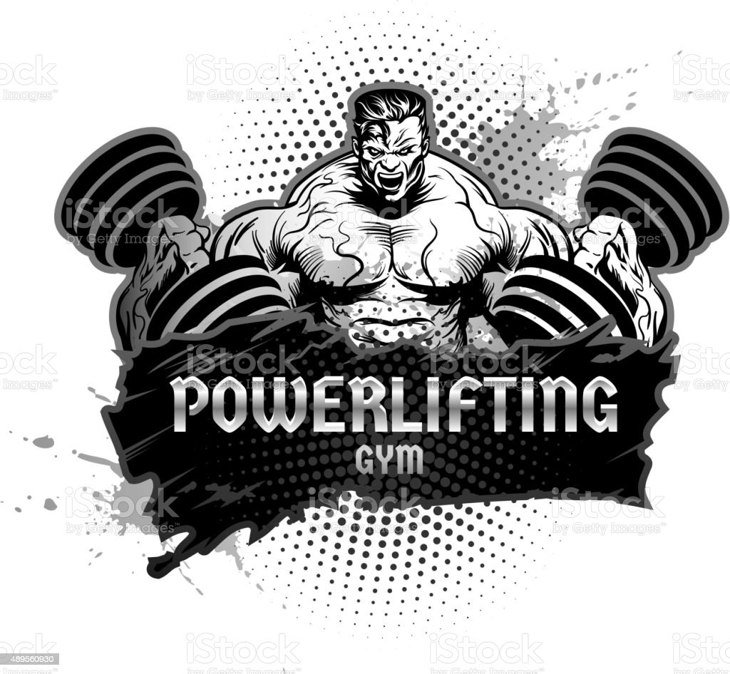 Bodybuilding And Powerlifting Symbol Stock Vector Art  for Bodybuilding Graphic Design  177nar