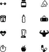 Vector File of Bodybuilding Icon Set