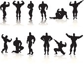 Bodybuilding Silhouette Collection