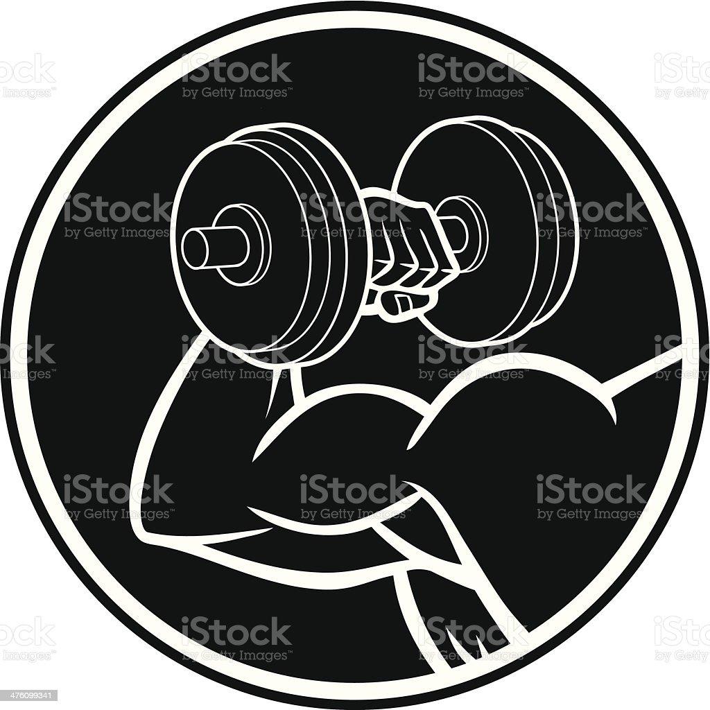 Bodybuilding Symbol royalty-free stock vector art
