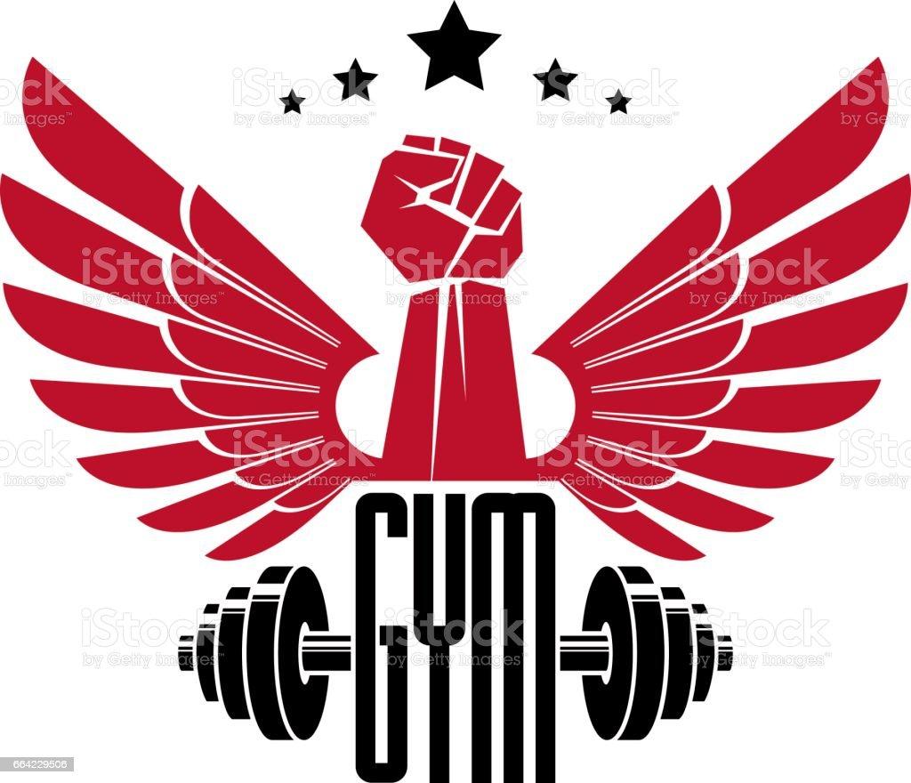 Bodybuilding Weightlifting Gym Logotype Sport Club Retro