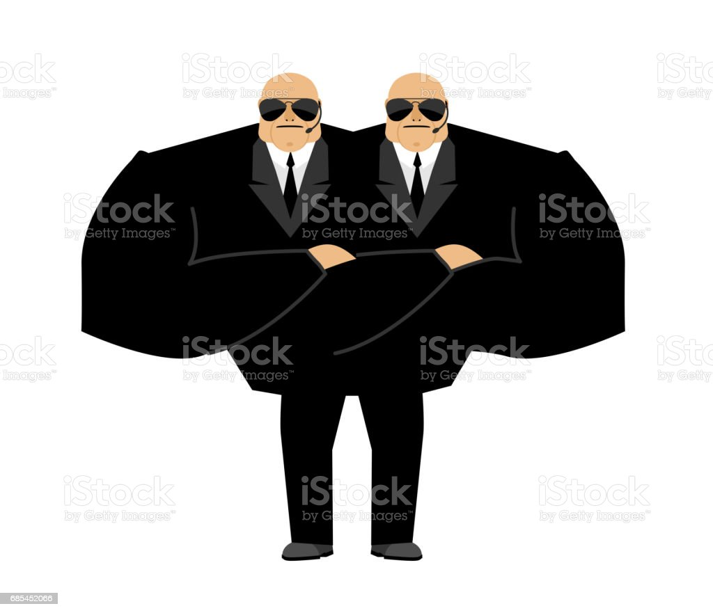 Bodyguard mutant. Monster Security guard face control of nightclub. Black suit and hands-free. protection person on white background bodyguard mutant monster security guard face control of nightclub black suit and handsfree protection person on white background - arte vetorial de stock e mais imagens de atleta royalty-free