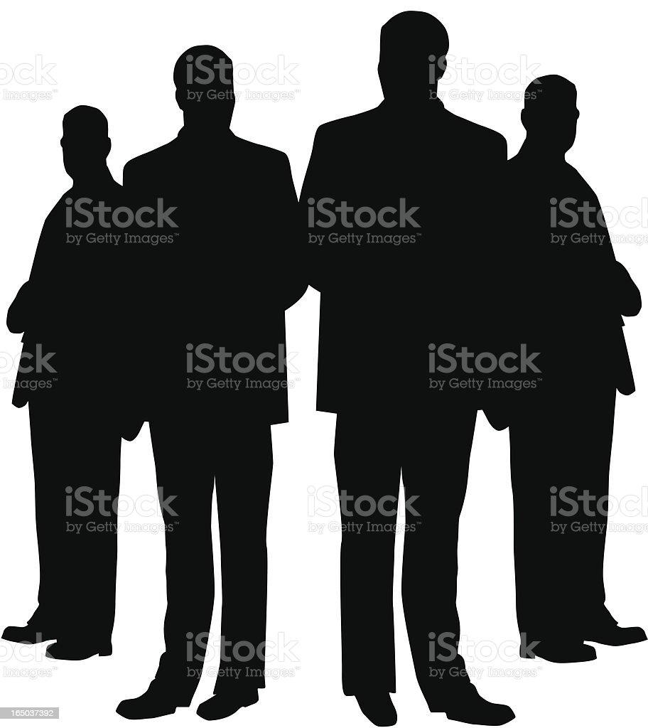 Bodyguards royalty-free stock vector art
