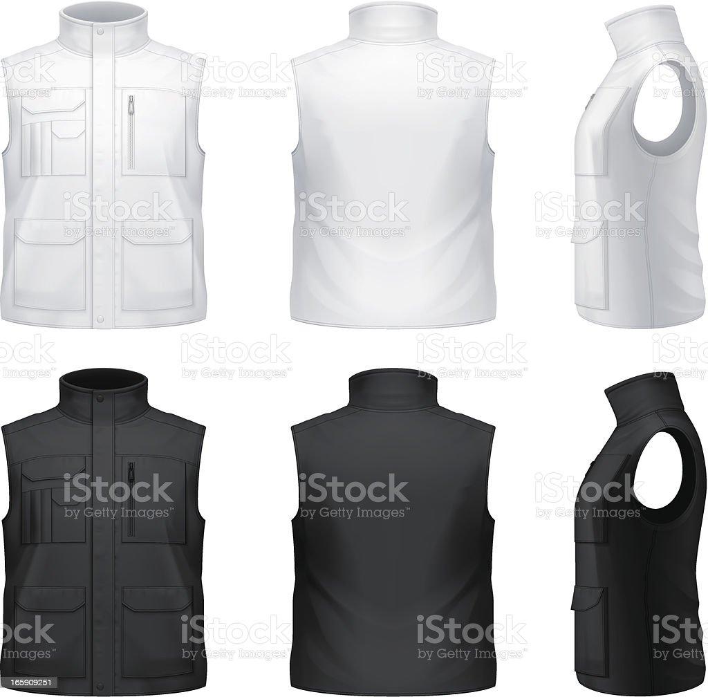Bodywarmer royalty-free bodywarmer stock vector art & more images of black color