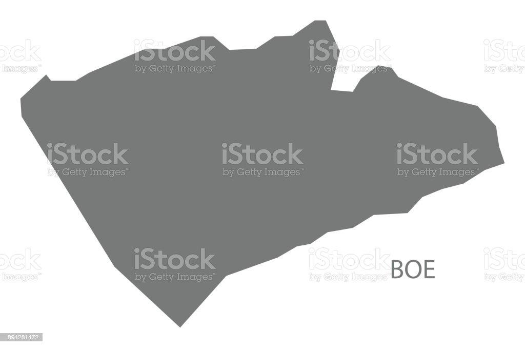 Boe Map Of Nauru Grey Illustration Silhouette Shape Stock Vector Art
