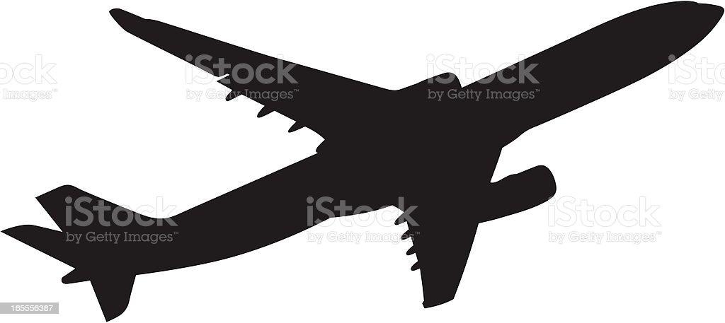 Boeing 767 royalty-free stock vector art