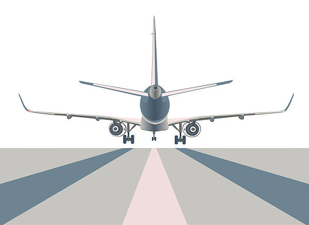 Boeing airliner. vector art illustration