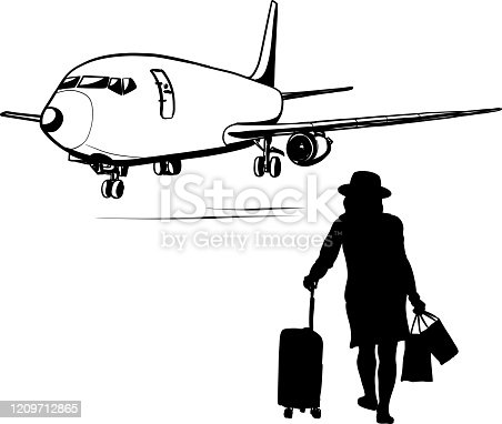 istock Boeing Airplane Silhouette 1209712865