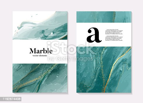 istock Boho aqua menthe 2020 design, marble liquid flow in turquiose blue green colors, ocean flow design template. Grunge texture design for Banner, invitation, wallpaper, headers, website, print ads, 1192874408