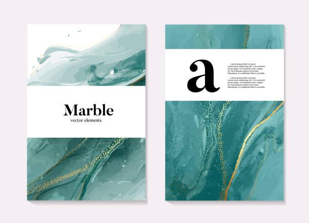 boho aqua menthe 2020 design, marmor flüssigkeit fluss in türkise blau grün farben, ozean-flow-design-vorlage. grunge textur-design für banner, einladung, tapete, kopfzeilen, website, print-anzeigen, - mineral stock-grafiken, -clipart, -cartoons und -symbole