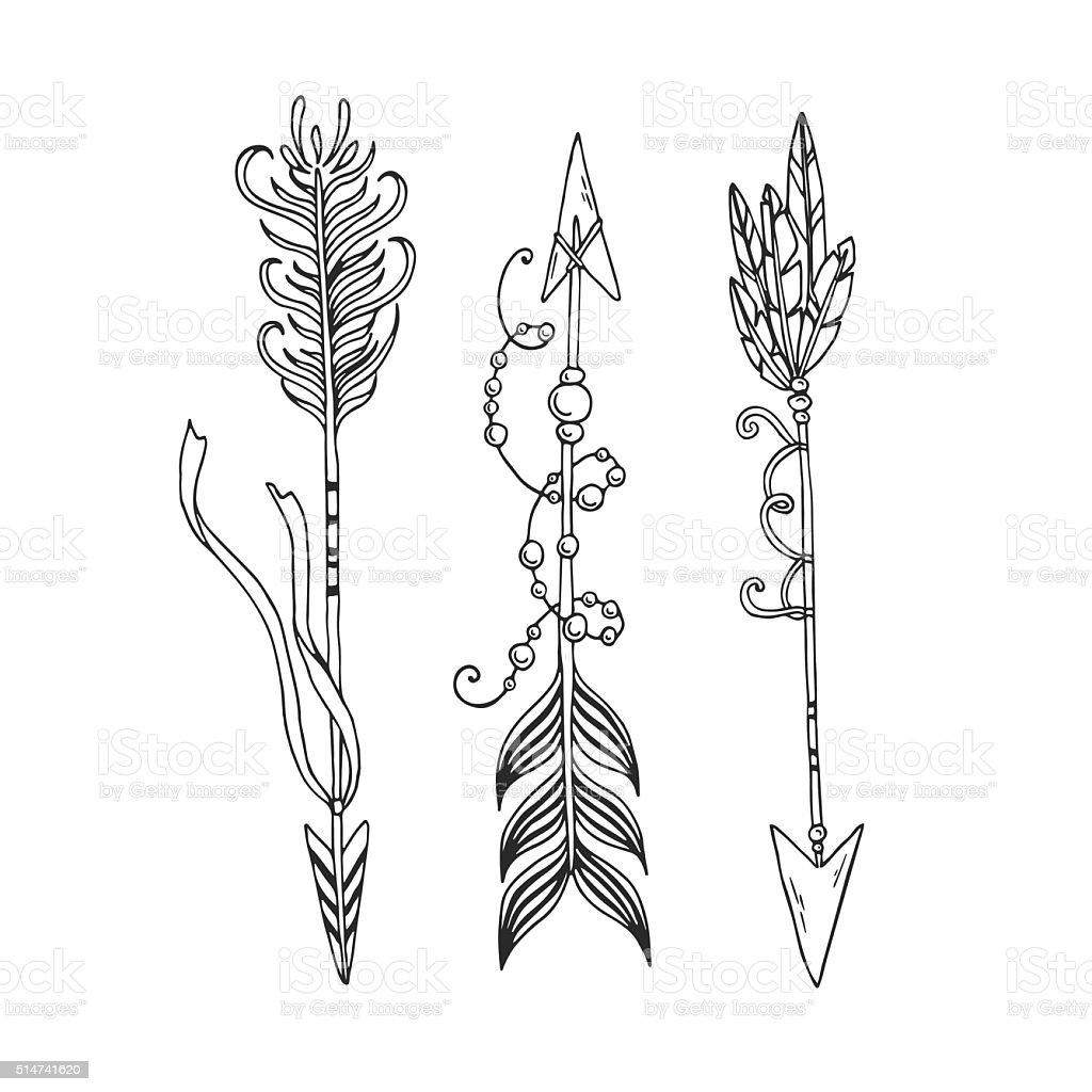 Boho Arrows Stock Illustration - Download Image Now - iStock