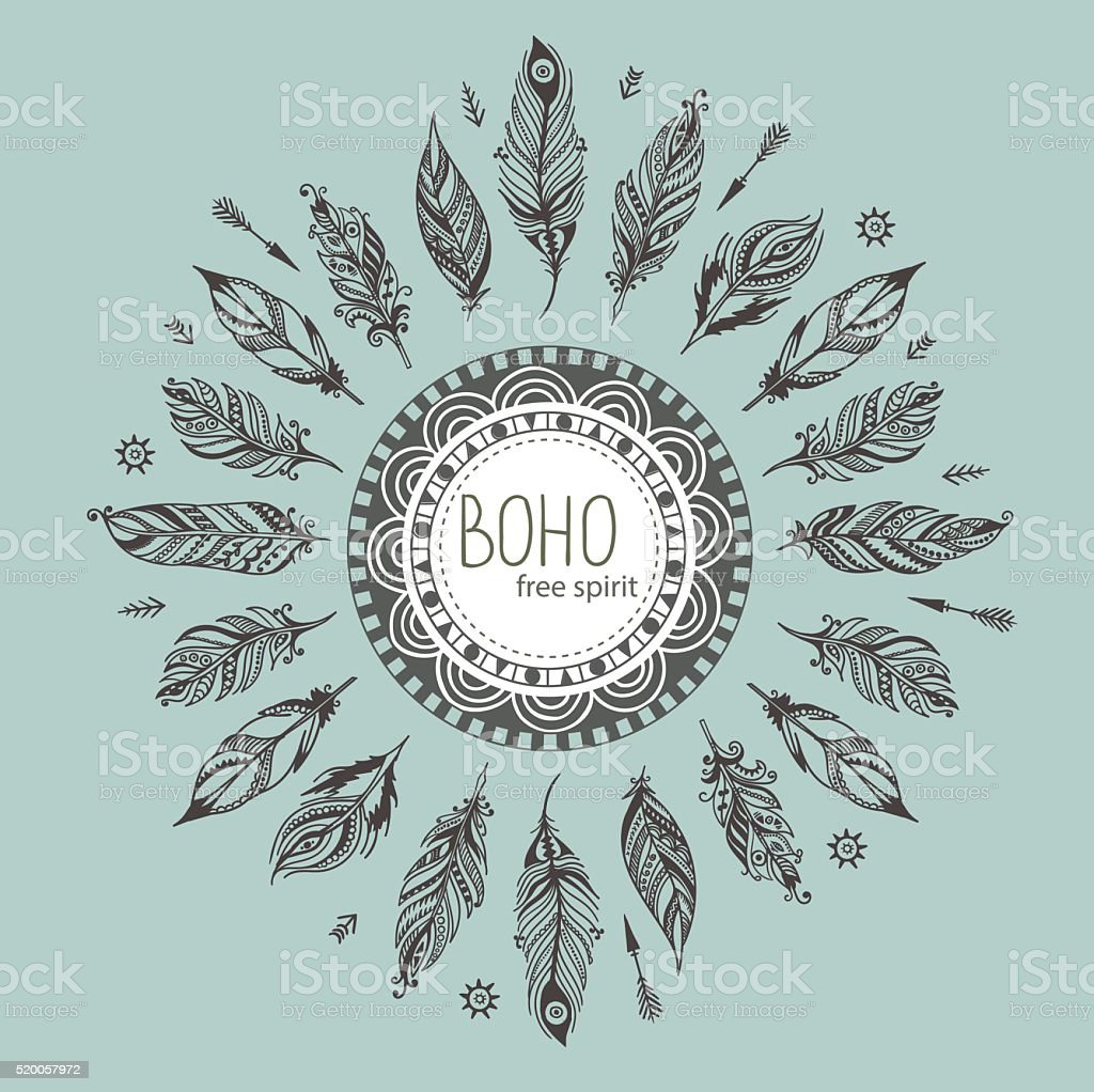 boho aztec ornament print eps8 vector art illustration
