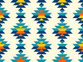 istock Boho aztec vertical diamonds rows colorful pattern 1207197137
