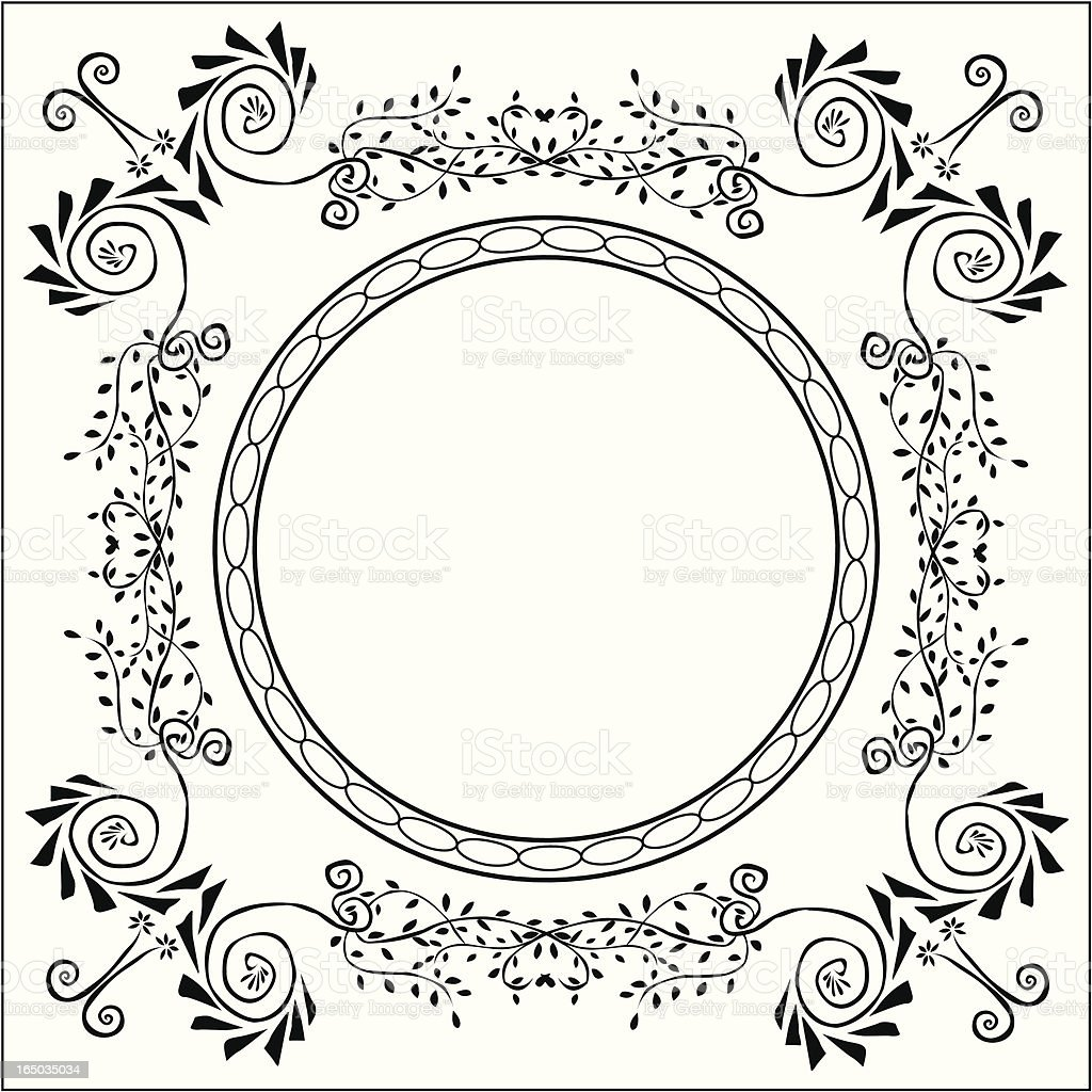 Boho Frame ( Vector ) royalty-free stock vector art