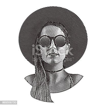 Boho Hipster Woman