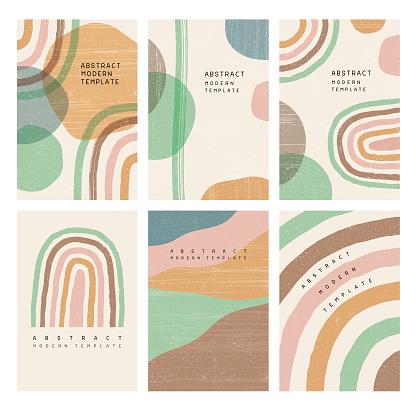 Boho rainbow templates