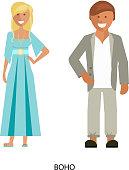 boho style suits
