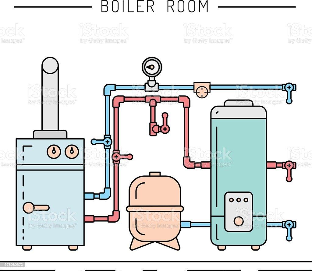 boiler room equipment – Vektorgrafik