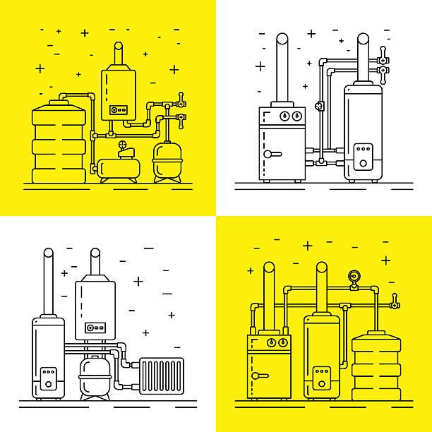 boiler-raum - kondensation stock-grafiken, -clipart, -cartoons und -symbole
